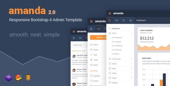 Amanda v2.0 — Responsive Bootstrap 4 Admin Template