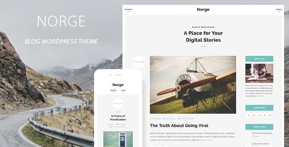 Norge v1.5 — Responsive Blog WordPress Theme