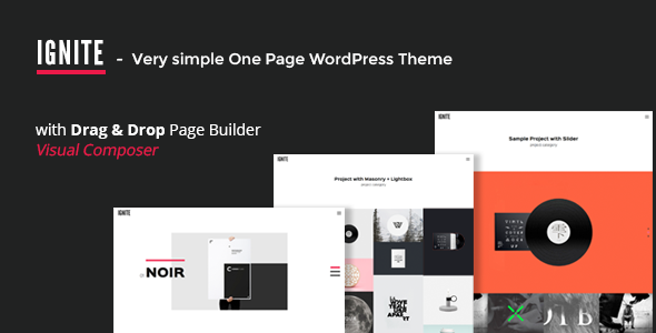 IGNITE v1.0.2 — Simple One Page Creative WordPress Theme