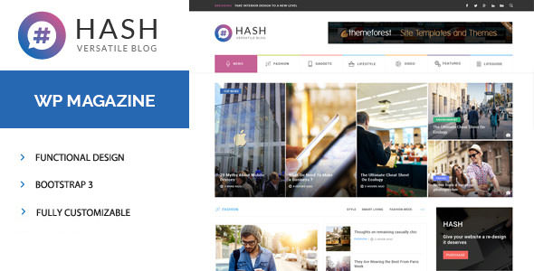Hash v1.3.1 — Responsive WordPress Magazine Theme