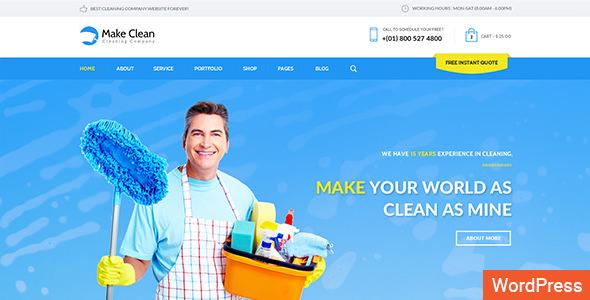 Make Clean v1.3 — Cleaning Company WordPress Theme