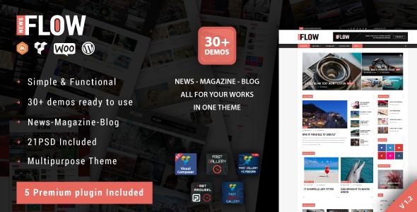 Flow News v1.8 — Magazine and Blog WordPress Theme