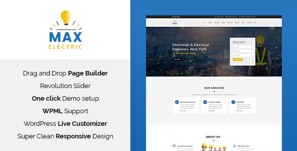 Max Electric v1.1 — Electrician WordPress Theme