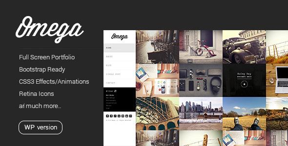 Omega v1.2.1 — Minimal WordPress Theme