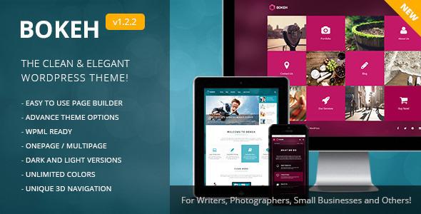 Bokeh v1.5.2 — WordPress Theme for Blog and Business