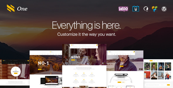 One v1.0 — Business Agency Events WooCommerce Theme