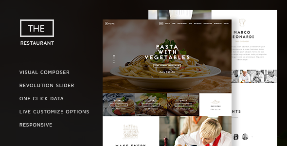 The Restaurant v1.3.1 — Restauranteur and Catering One Page Theme