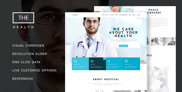 The Hospital v1.6 — One and Multi Page Health Theme