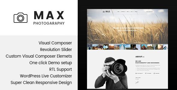 Max Photograpy — WordPress Theme for Photographers
