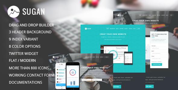 Sugan v1.0 — Software Apps Mobile WordPress Theme