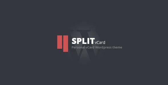 Split v1.0 — WordPress CV/Vcard Template