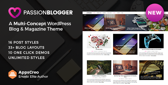 Passion Blogger v1.2 — A Responsive WordPress Theme