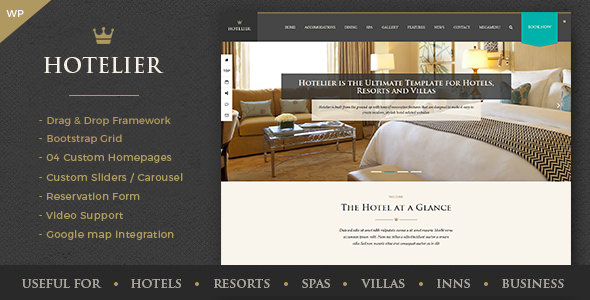 Hotelier v1.0 — Hotel and Travel Booking WordPress Themes