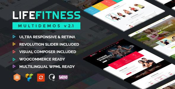 Life Fitness v2.2 — Gym&Sport WordPress Theme