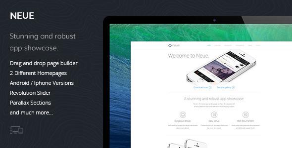 Neue v1.0.1 — App Landing Page WordPress Theme