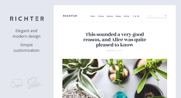 Richter v1.0.5 — Creative WordPress Blog Theme