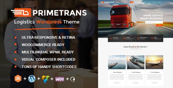 PrimeTrans v2.5 — Logistics WordPress Theme