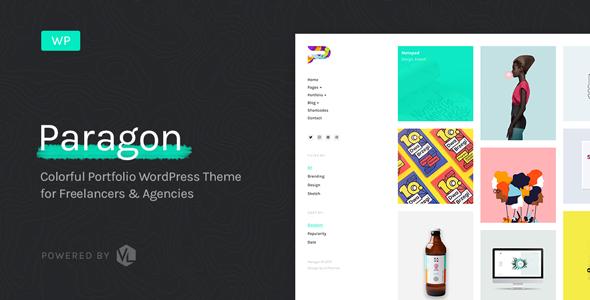 Paragon v1.4 — Colorful Portfolio for Freelancers and Agencies