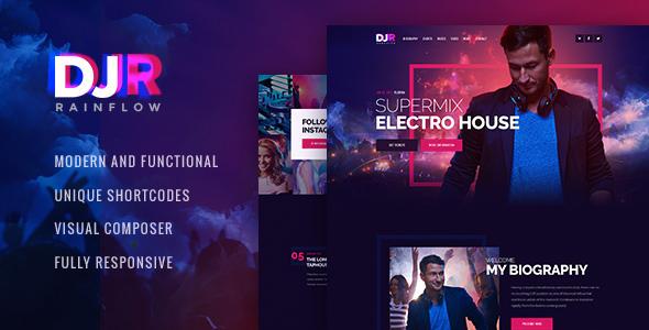DJ Rainflow v1.0 — Music Band and Musician WP Theme