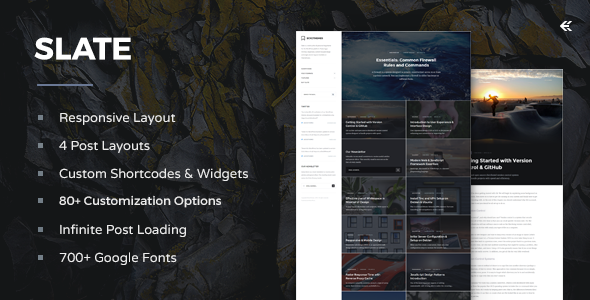 Slate v2.1.0 — Responsive WordPress Blog Theme
