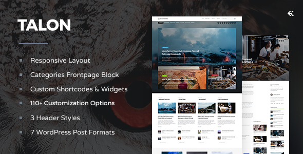 Talon v2.1.0 — Responsive WordPress Theme