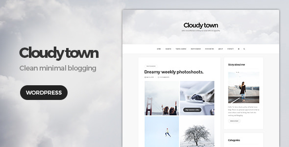 Cloudy Town v1.1 — Clean Minimal Blog Theme