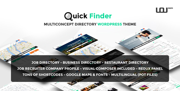 QuickFinder v1.0.7 — Multiconcept Directory WordPress Theme