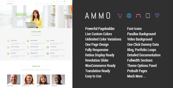 Ammo v1.5.1 — Corporate MultiPurpose Theme