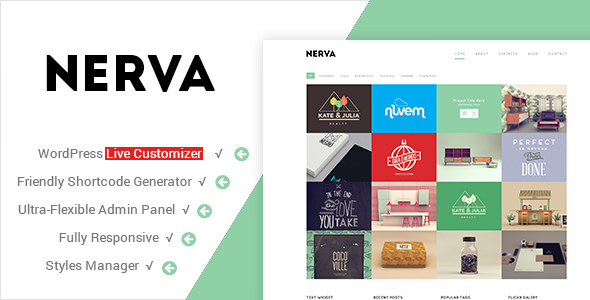 Nerva v1.2.1 — Premium Minimal WordPress Theme
