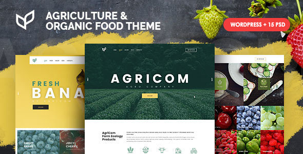 Agricom v1.1.7 — Agriculture and Organic Food WordPress Theme Pack