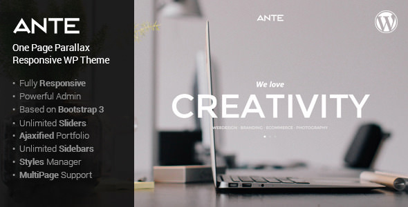 Ante v1.5.1 — The Ultimate WordPress Parallax Theme