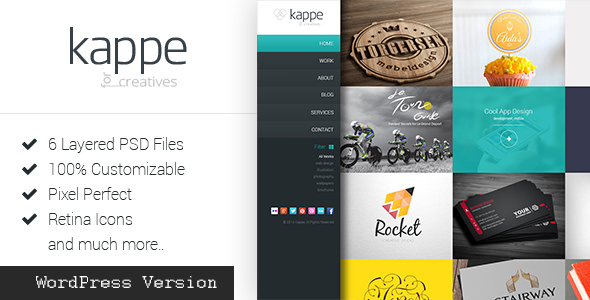 Kappe v2.1 — Full Screen Portfolio and Blog WP Theme