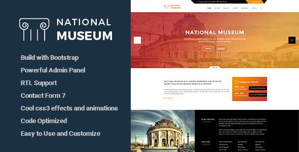 Museum v1.3 — Responsive WordPress Theme