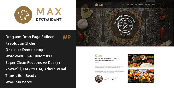 Restaurant v1.1 — Responsive WordPress Theme