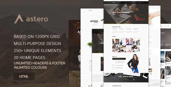 Astero — Creative MultiPurpose Component Based HTML5 Template