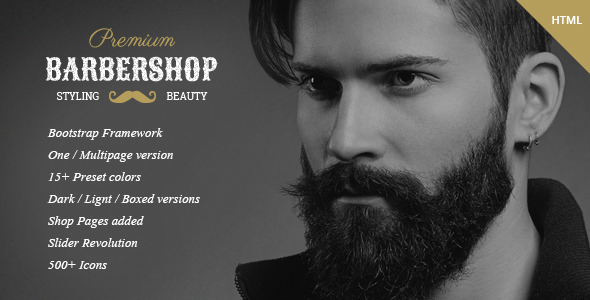 BarberShop — Hair Saloon Spa Tattoo HTML Template