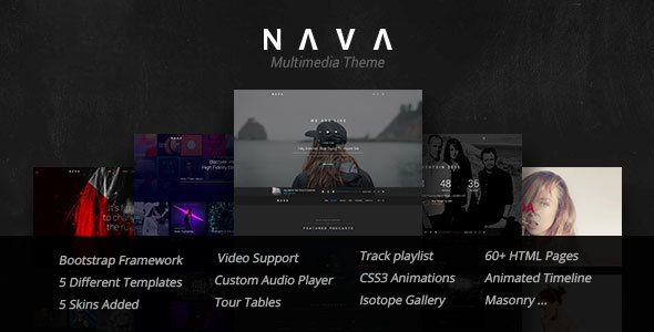 Nava — Music, Artist, Band, Radio | Ultimate Multimedia HTML Template