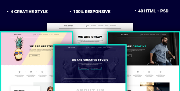The Crazy — Creative Agency HTML5 Template