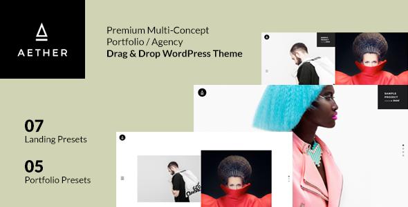 Aether v1.0 — Minimal & Enjoyable Multi-Concept Portfolio / Agency