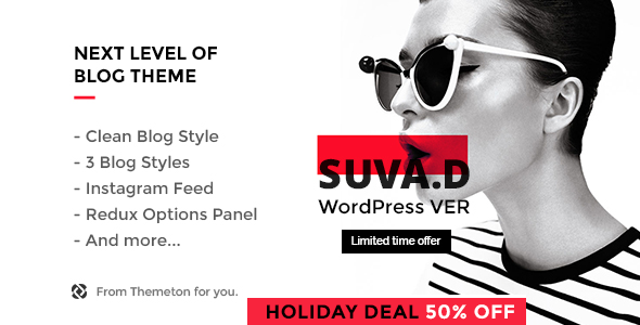 SUVAD v1.1 — Personal Blog WP Theme