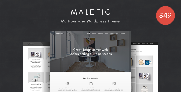 Malefic v1.0 — Multipurpose One Page Responsive WordPress Theme