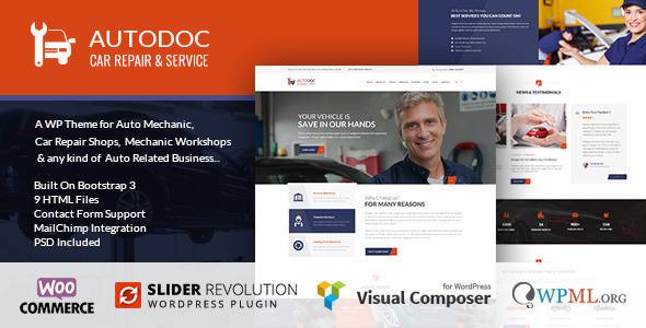 AutoDoc v1.4.3 — Car Repair Mechanic Shop WordPress Theme