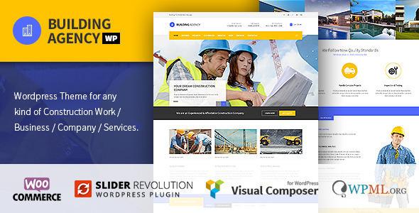 Building Agency v1.3.3 — Construction WordPress Theme