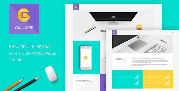 Galliope v1.02 — Agency/Portfolio WordPress Theme