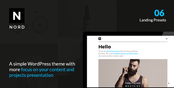 NORD v1.0.0 — Creative WordPress Theme with Focus on Content
