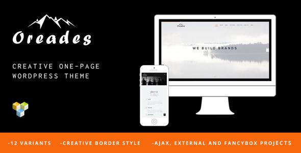 Oreades v1.4.0 — Creative One-Page WordPress Theme