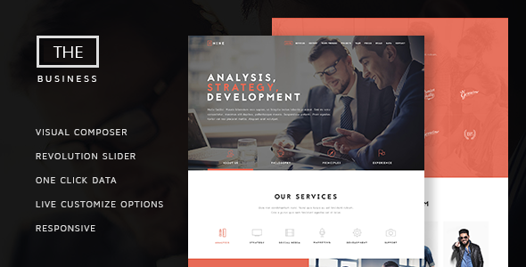 The Business v1.4.1 — Powerful One Page Biz Theme