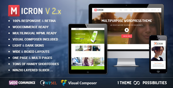 Micron v4.4 — Retina Responsive Multi-Purpose Theme