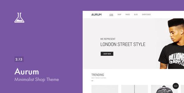 Aurum v2.13 — Themeforest Minimalist Shopping Theme
