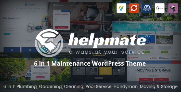 Helpmate v1.0.8 — 6 in 1 Maintenance WordPress Theme